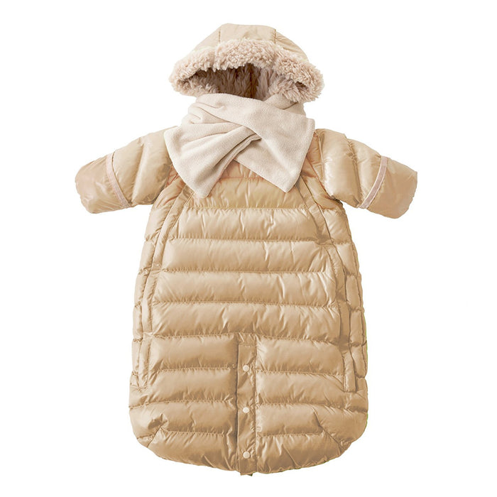 7AM Enfant Doudoune One Piece Infant Snowsuit Bunting, Beige, Small