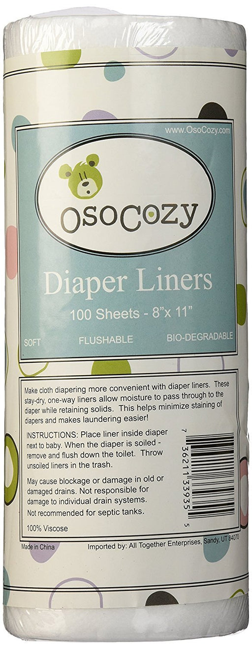 OsoCozy Flushable Diaper Liners - Make Cloth Diapering Convenient With Easy, Quick, Cloth Diaper Liners - Super Soft and Gentle on Baby's Skin