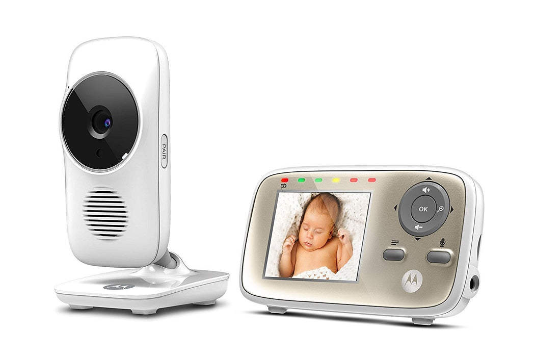"Motorola MBP483 Digital Video Baby Monitor 2.8"" Colour LCD Display Featuring Night Vision On Parent Unit,Two Way Talk Back,Babies Room Temperature Monitor And Lullabies"