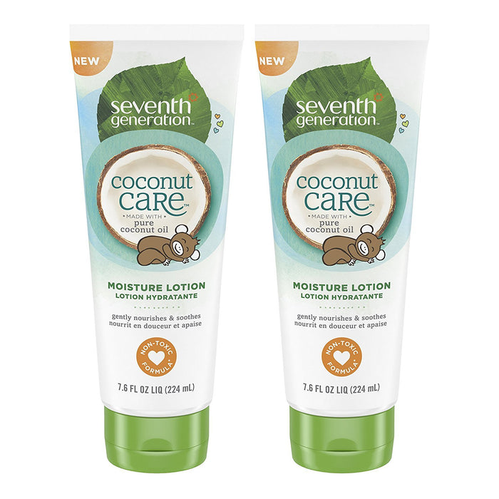 Seventh Generation Baby Lotion with Moisturizing Coconut Care, 7.6oz , 2 Count