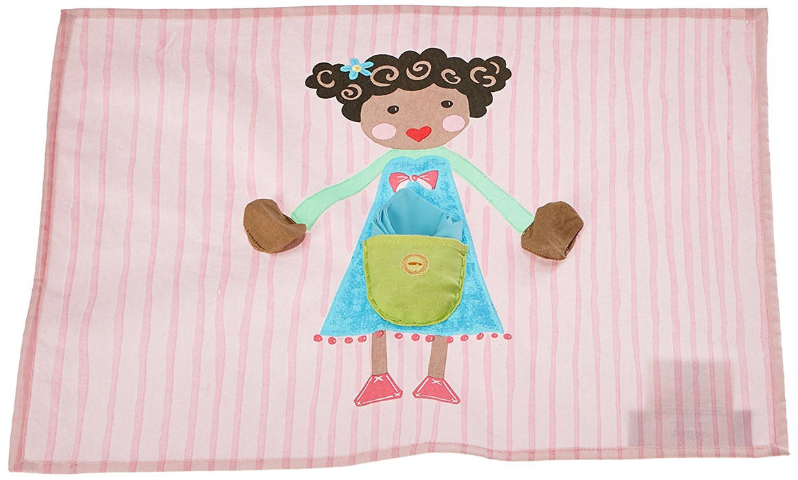 The Little Acorn Placemat, Blue Girl