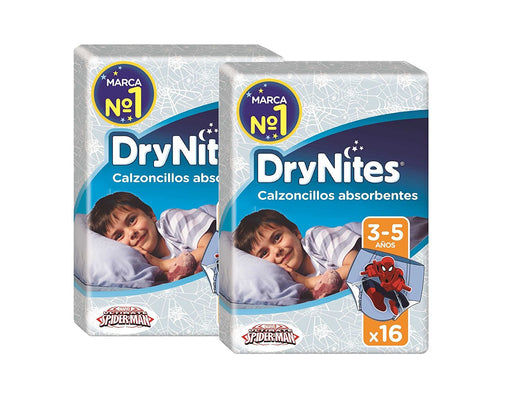 Huggies DryNites Pyjama Pants for Boys 3 - 5 Years (16 - 57 kg) 2 x Pack of 16