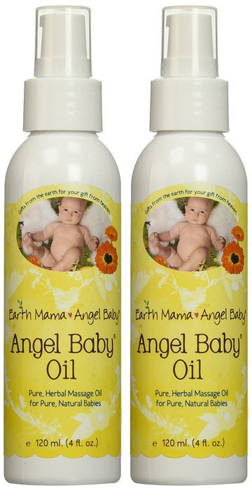 Earth Mama Angel Baby Earth Mama Angel Baby, Angel Baby Oil, 4 Ounce (Pack of 2)