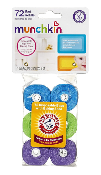 Munchkin Arm and Hammer Diaper Bag Refills, 72 Count