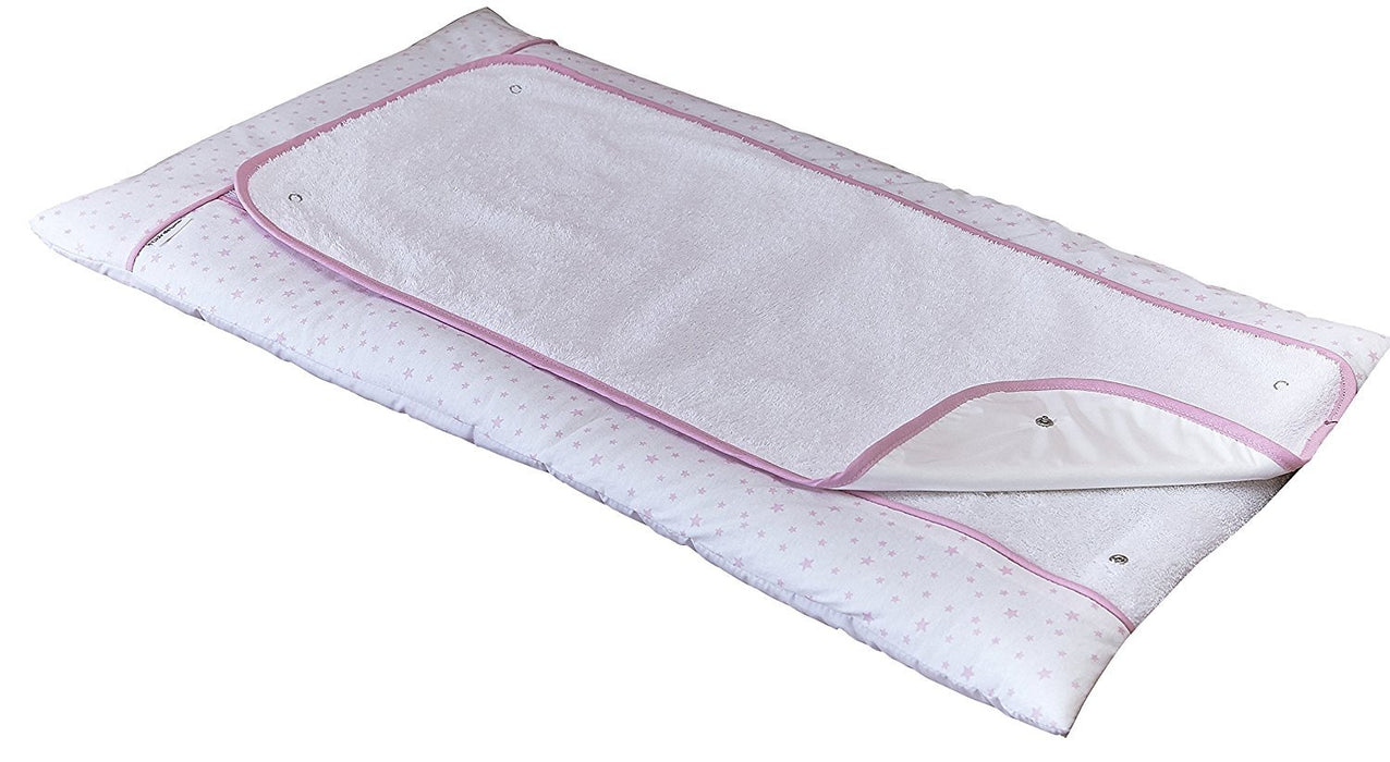 Clair de Lune Changing Mat (Pink, Stars and Stripes)