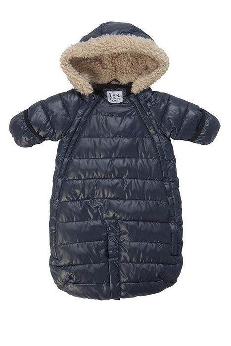7.A.M. Enfant Doudoune Footmuff (Blue, Medium)