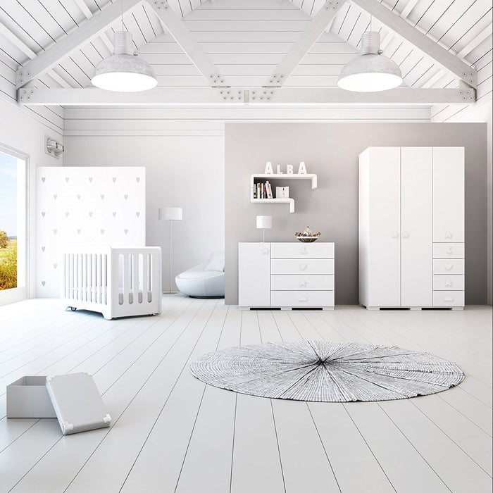 Alondra H561 - balda-estante Children Modular, Large matte white