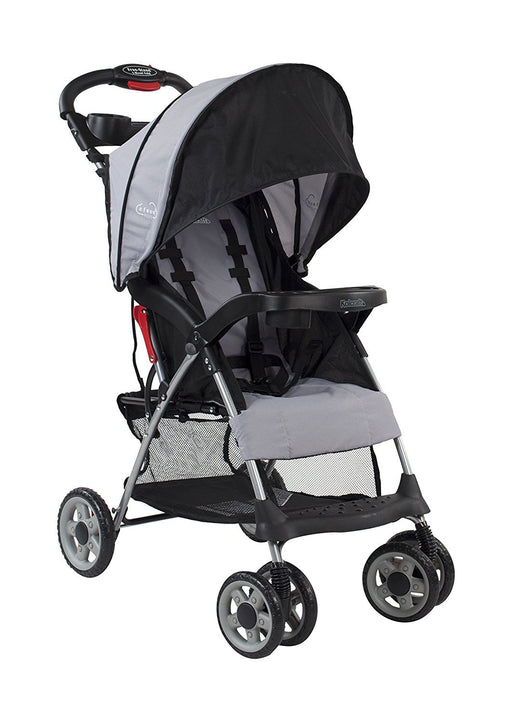 Kolcraft Cloud Plus Lightweight Stroller with 5-Point Safety System and Multi-Positon Reclining Seat, Slate