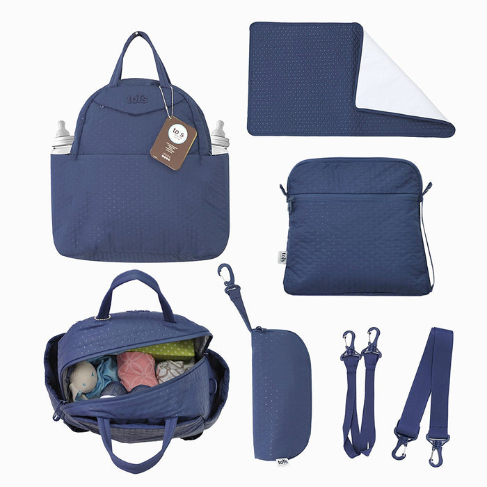 0ffa649b176 Tots by Smart Rike 100 203 Infinity Changing bag, Nappy Bag, Mommy Bag (38  x 18 x 38 cm blue Quilt