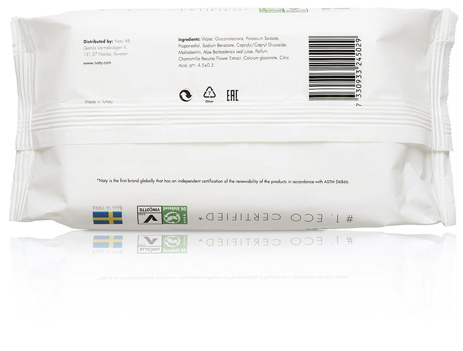Naty by Nature Babycare ECO Lightly Scented Wipes - 12 x Packs of 56 (672 Wipes)