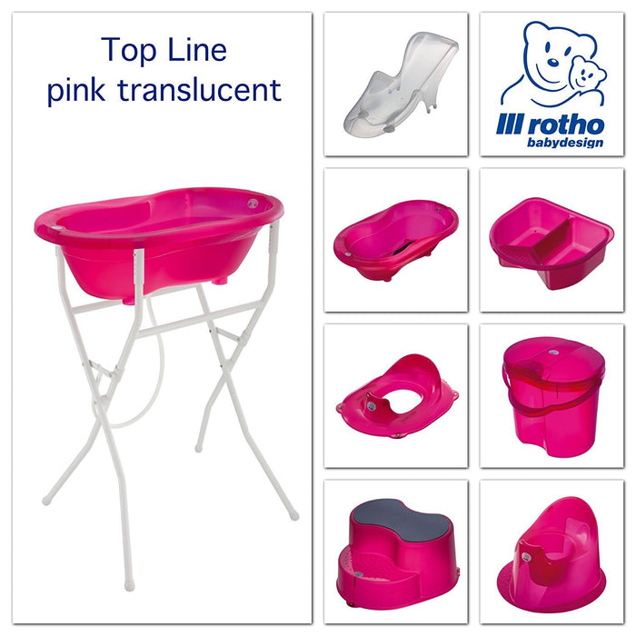 Rotho Babydesign Top and Tail Bowl (Translucent Pink)
