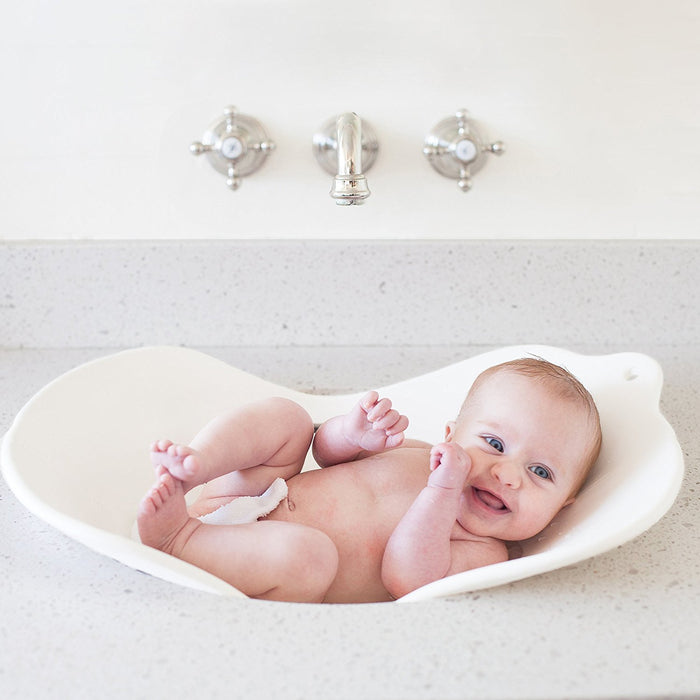 Puj Compact Infant Bathtime Basin Insert Flyte (White)