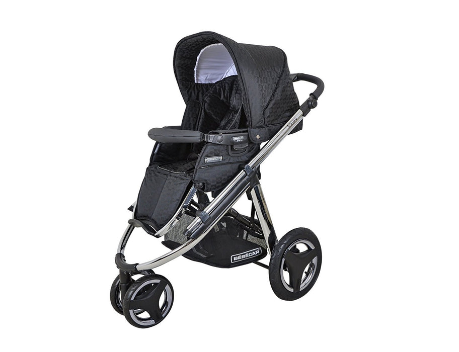 Bebecar Icon AT Chrome Chassis Pushchair (Black Velvet)