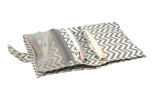 Melobaby Deluxe Nappy Wallet and Change Mat (Chevron Grey)