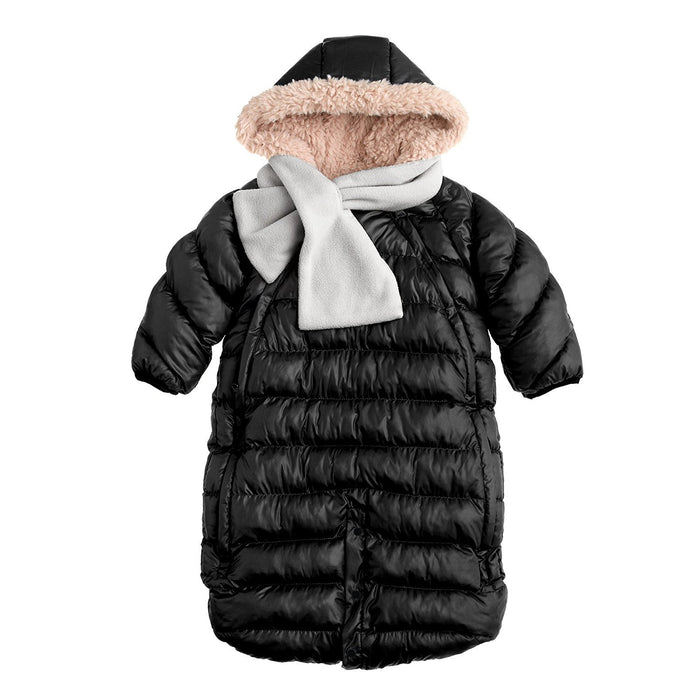 7AM Enfant Doudoune One Piece Infant Snowsuit Bunting, Black, Small
