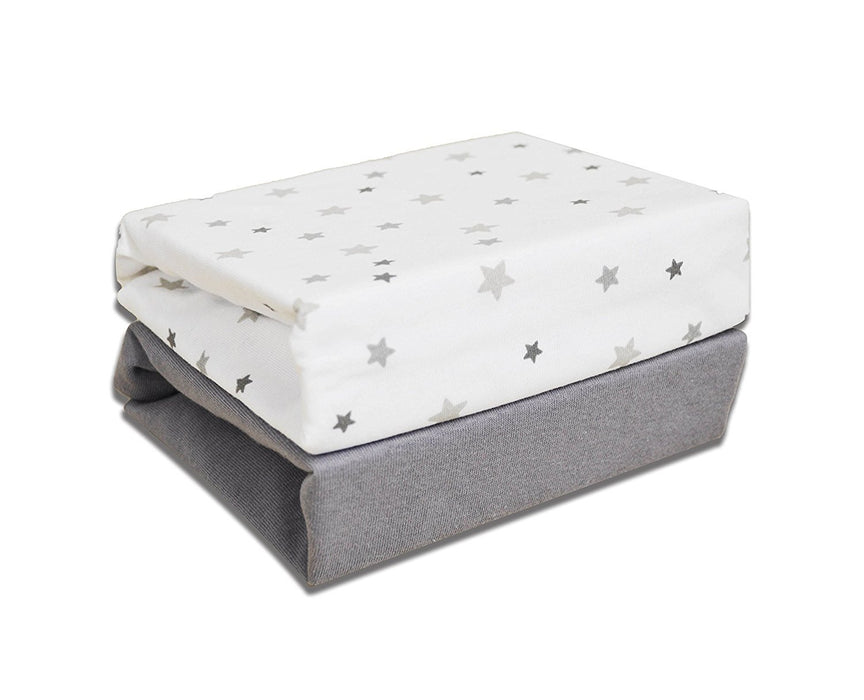Cuddles Collection Magical Stars Crib Fitted Sheets (White)