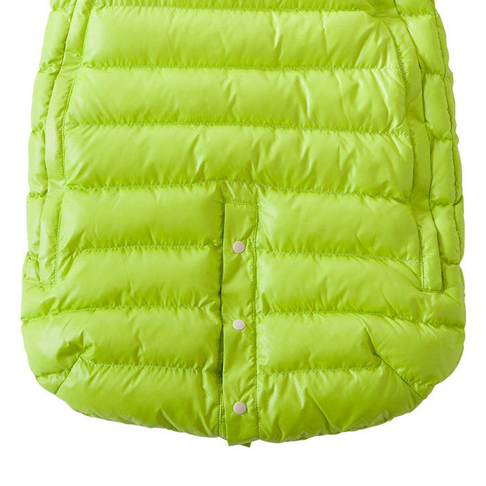 7AM Enfant Doudoune One piece Infant Snowsuit Bunting, Neon Lime/Orange Peel, Large