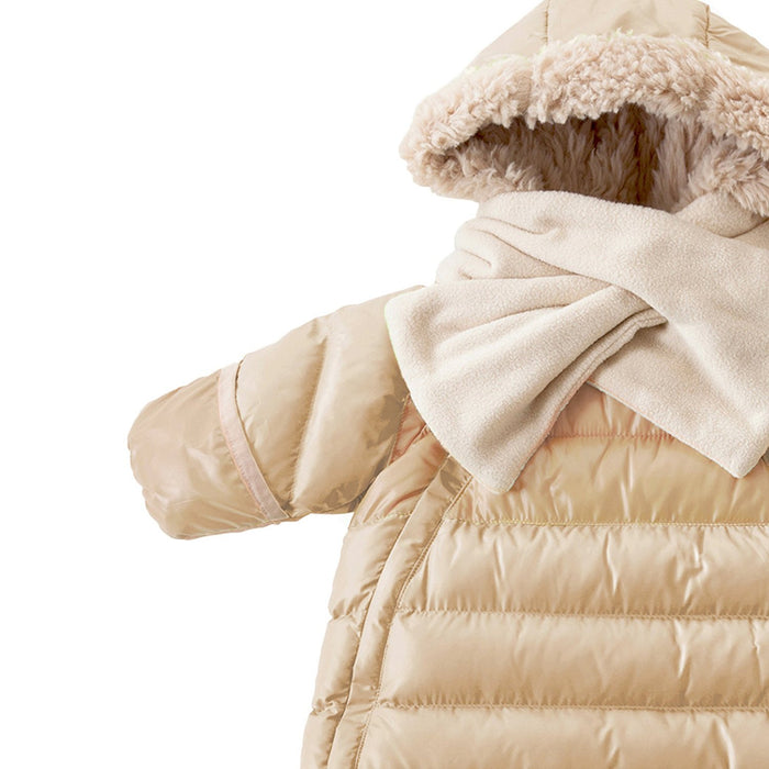 7AM Enfant Doudoune One Piece Infant Snowsuit Bunting, Beige, Medium