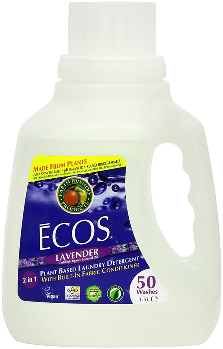 Earth Friendly Products Ecos Lavender Laundry Detergent 50 Washes 1.5 Litres