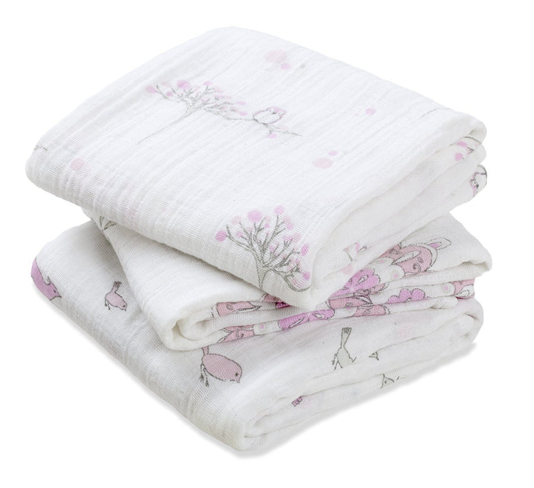 Aden and Anais For The Birds Musy (Muslin Squares) Set of 3