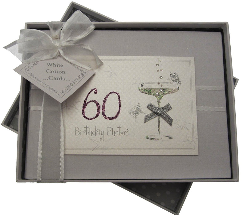 60th Birthday, Small Photo Album, Coupé Glass