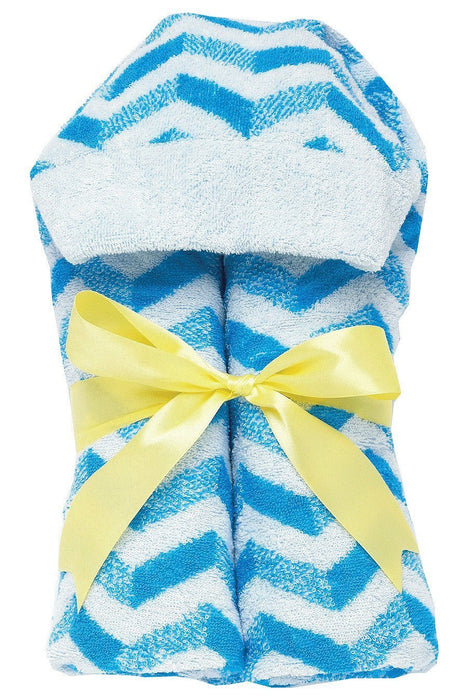 AM PM Kids! Tubby Towels, Chevron with Yellow Ribbon
