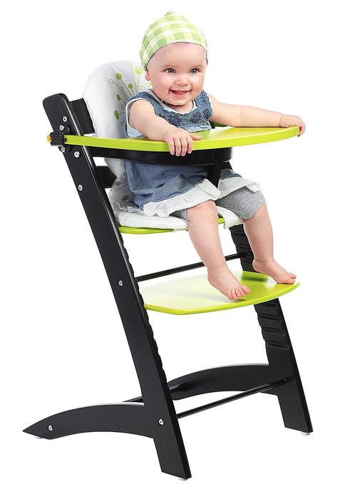 Badabulle High Chair (Grey/ Green)
