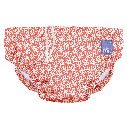 Bambino Mio Reusable Swim Nappy, 0 to 6 Months, Coral Reef
