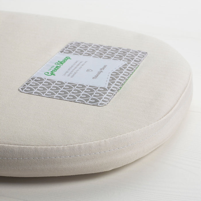 The Little Green Sheep Natural Carrycot Mattress for iCandy Cherry (70 cm x 27 cm)