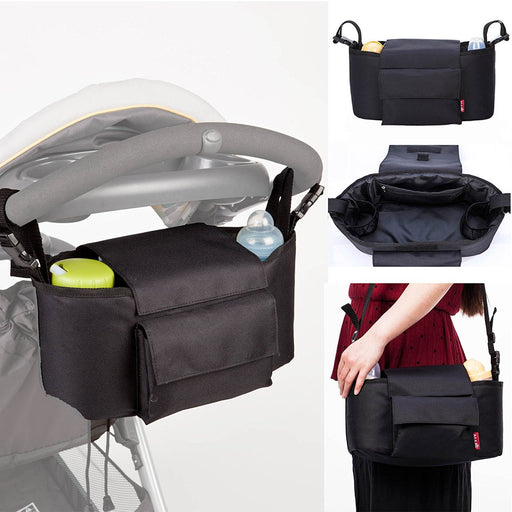 Allis 2-in-1 Buggy Organizer Baby Changing Bag (Black)