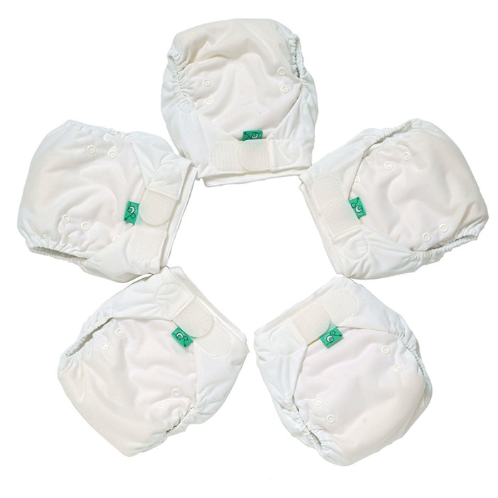 TotsBots Easyfit Star Mini Pack Nappies (Size 2, White, Pack of 5)