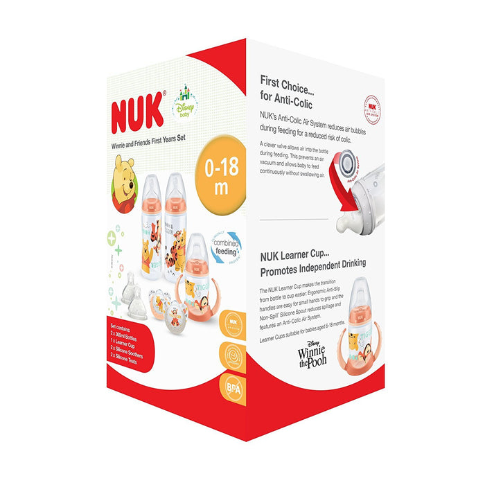 NUK Winnie the Pooh Bottle and Cup Set (0-18m)