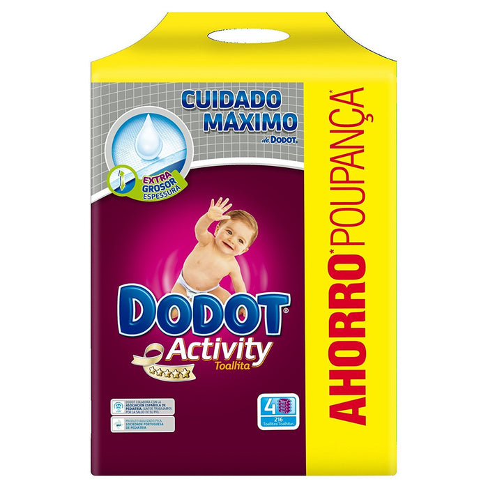 Dodot Activity Baby Wipes Refill, 648 Pieces
