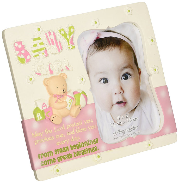 Angelstar 13326 Baby Girl Photo Frame, 7-3/4 by 6-3/4-Inch