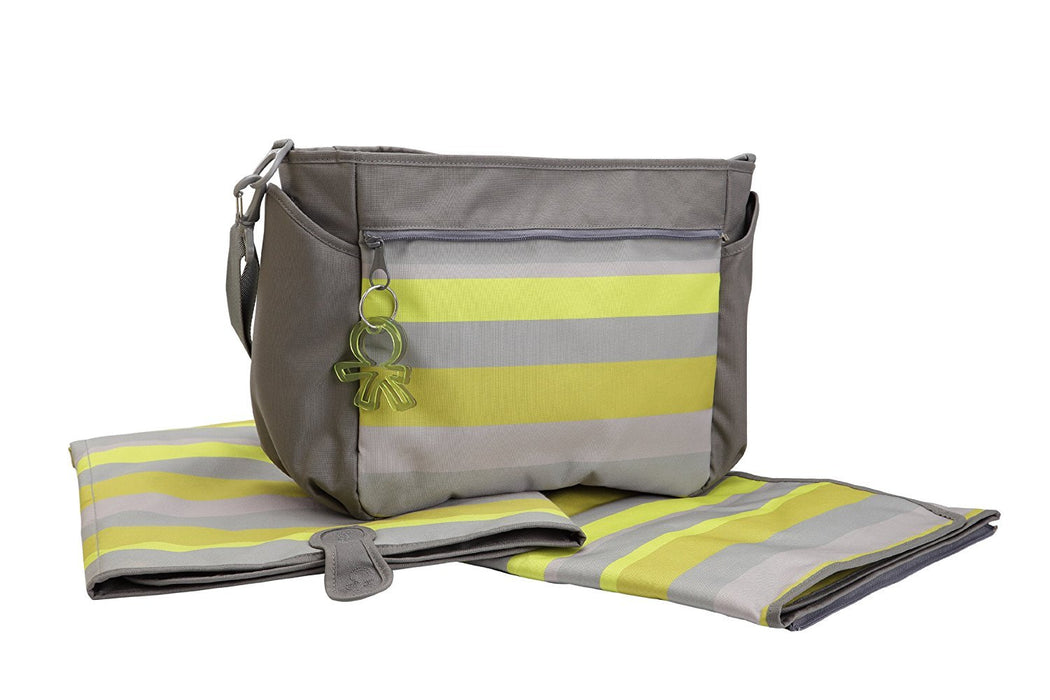 Okiedog Skagen Chillax Nappy Bag with Mat Green / Grey