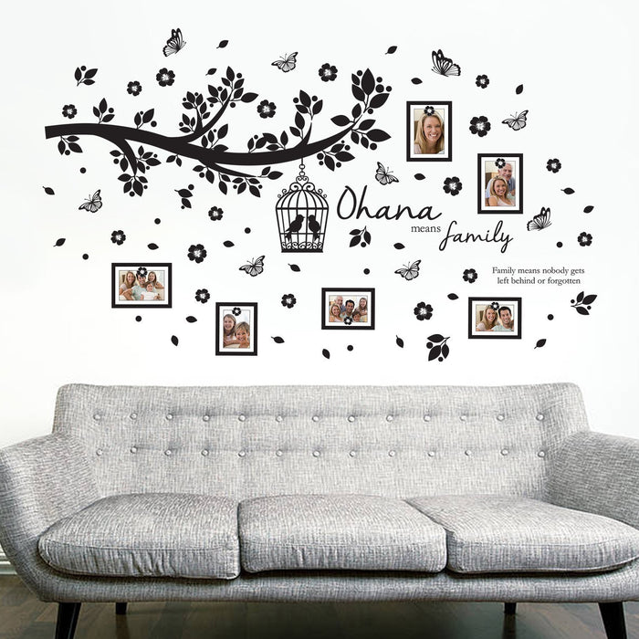 Walplus Wall Stickers Ohana Family Tree Wall Art Murals Removable  Self Adhesive Decals Nursery Kindergarden ...