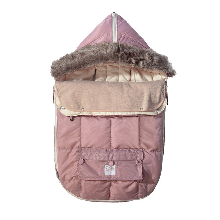 "7AM Enfant ""Le Sac Igloo"" Footmuff, Converts into a Single Panel Stroller and Car Seat Cover, Rose, Large"