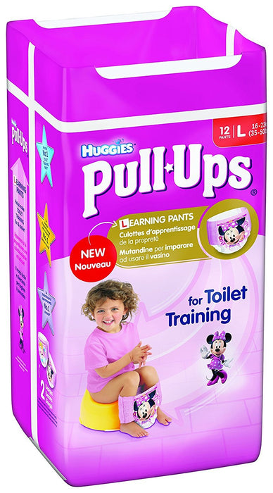 Huggies Pull Ups Potty Training Pants for Girls, Large - 72 Pants Total