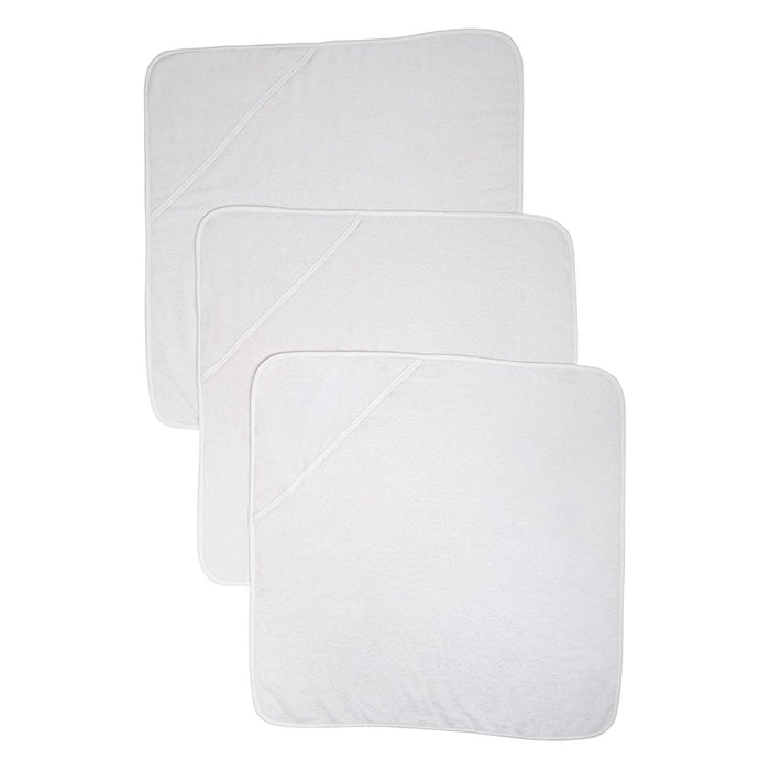 Mothercare Hooded Towels (Cuddle 'N' Dry, White, Pack of 3)