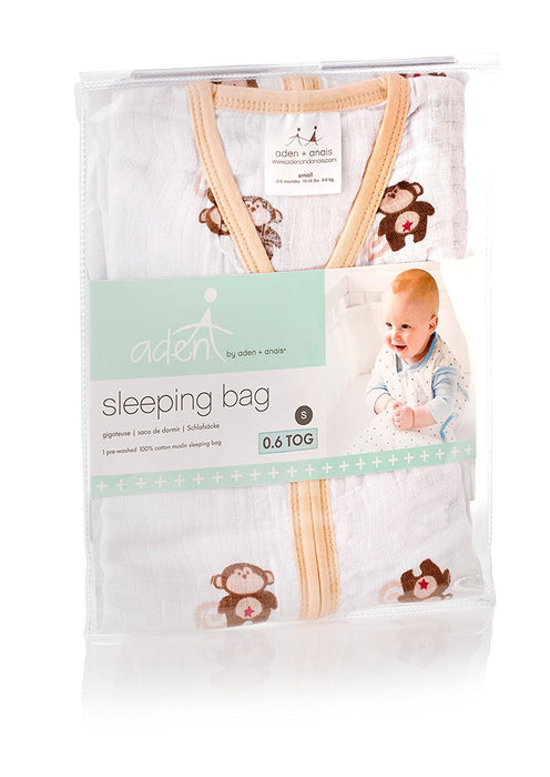 aden by aden + anais 1.0 TOG summer sleeping bag - safari friends (0-6 months)