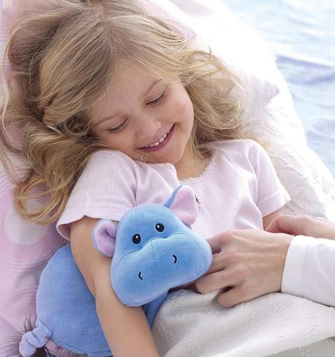 Fashy Hippo Heat Pack with Rapeseed Filling, Blue