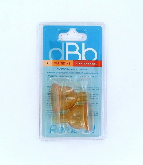 dBb Remond 144600 Pack of 2 Rubber teats with 3 Positions and Air Regulations