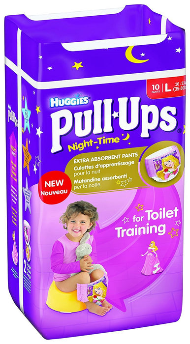 Huggies Pull Ups Night Time Potty Training Pants for Girls - Large, 60 Pants Total