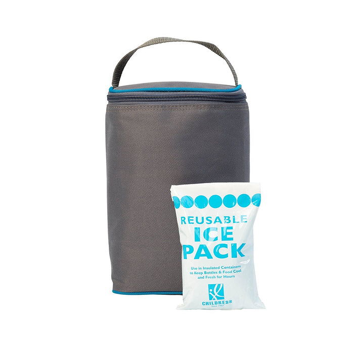 J.L. Childress TwoCOOL Double Bottle Cooler, Grey/Teal