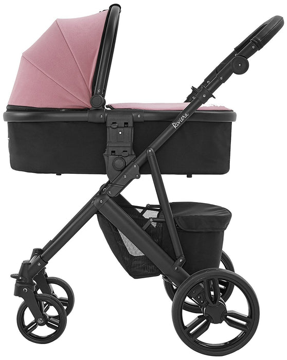 Tutti Bambini Riviera Plus Carrycot Accessory Pack (Dusty Pink/Cool Grey)