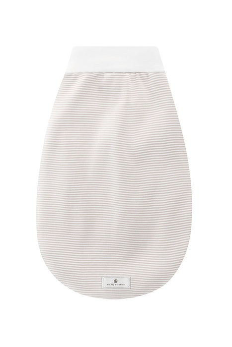 Bellybutton Swaddling Bag (White & Taupe Striped)