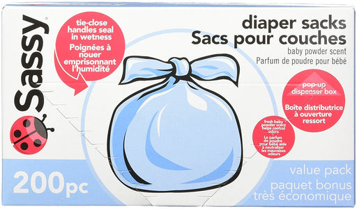 Sassy Baby Disposable Diaper Sacks, 200 Count