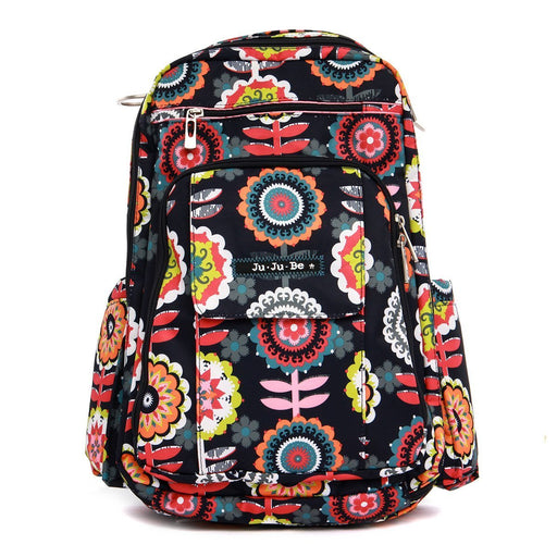 Ju-Ju-Be Be Right Back Backpack Changing Bag, Dancing Dahlias