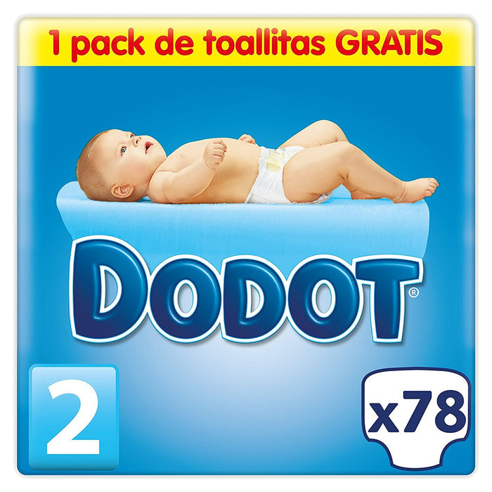Dodot Stages T.2 First Months - Nappies 3 - 6 kg, 78 und