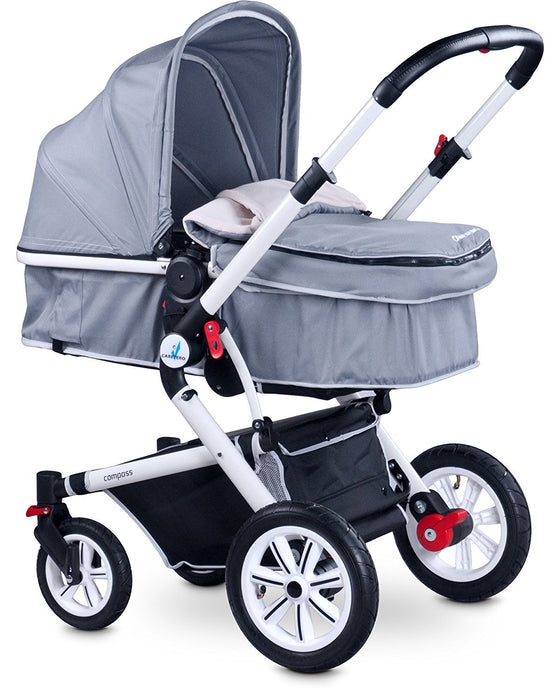 Caretero 2-in-1 Compass Travel System (Grey)